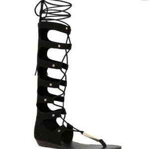 Aldo knee high gladiator sandals size 8